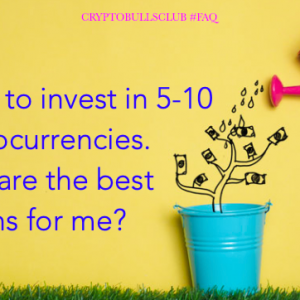 I want to invest in 5-10 Cryptocurrencies. What are the best options?