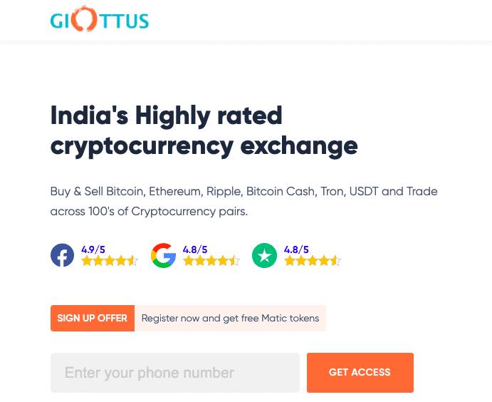 Indian crypto exchange