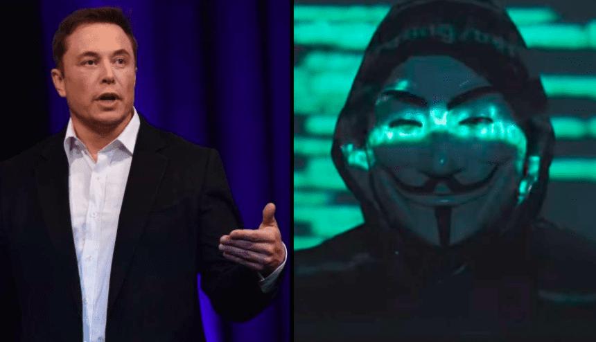 "Hacker group ""Anonymous"" threatens Tesla CEO Elon Musk"